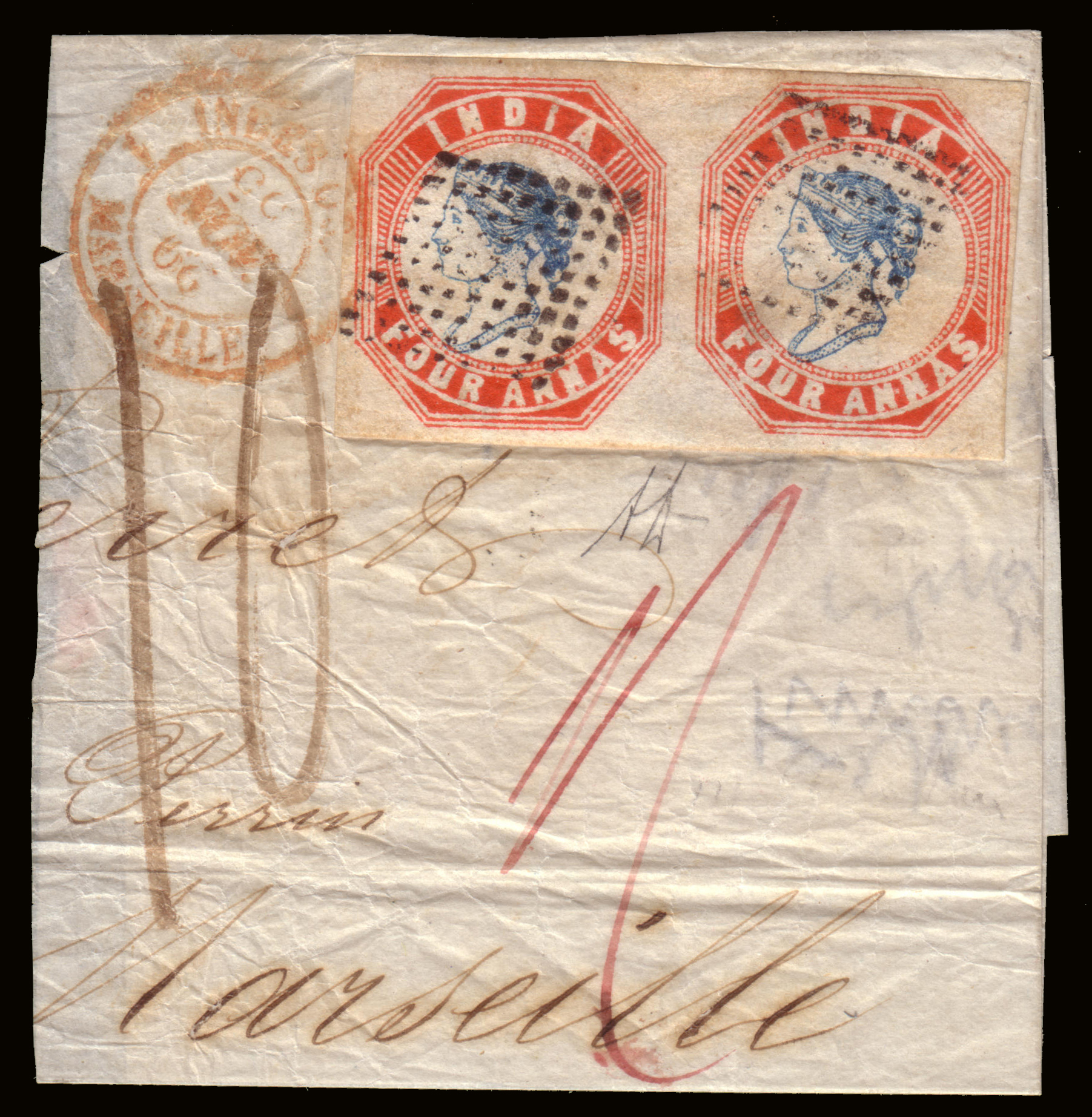 Lot 2056 - india Individual lots -  Ponte Auction House Stamps Auction 505