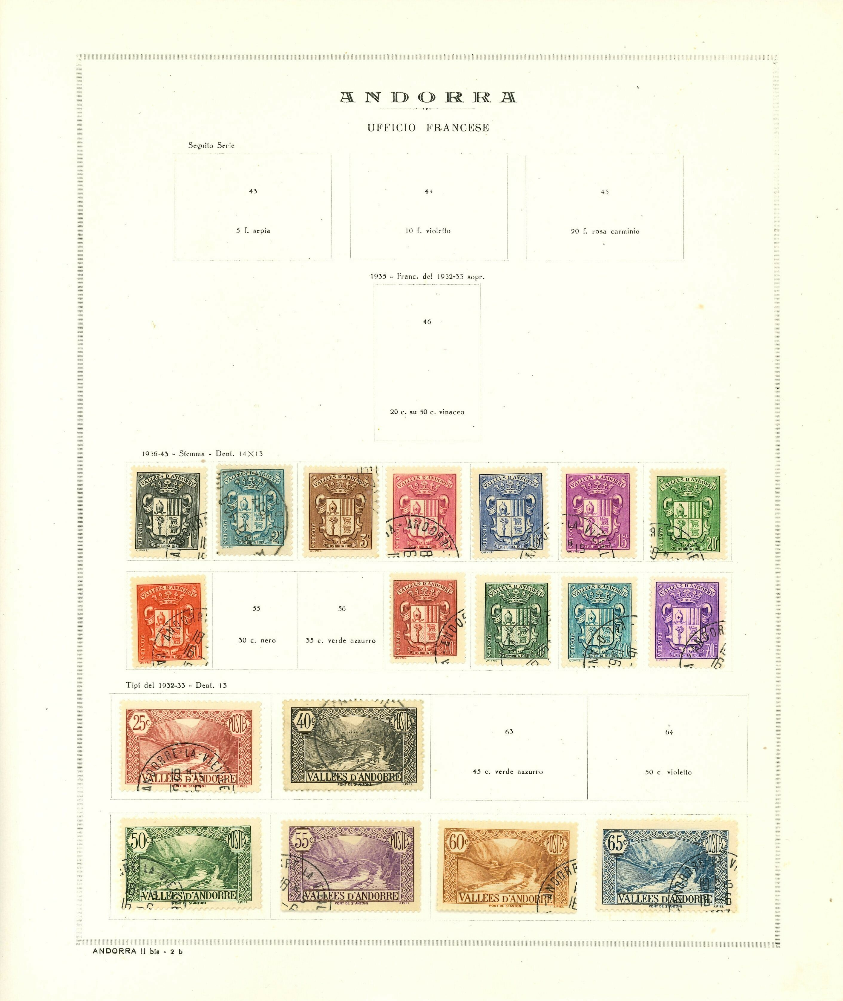 Lot 2184 - Andorra Lots & Collections -  Ponte Auction House Stamps Auction 505