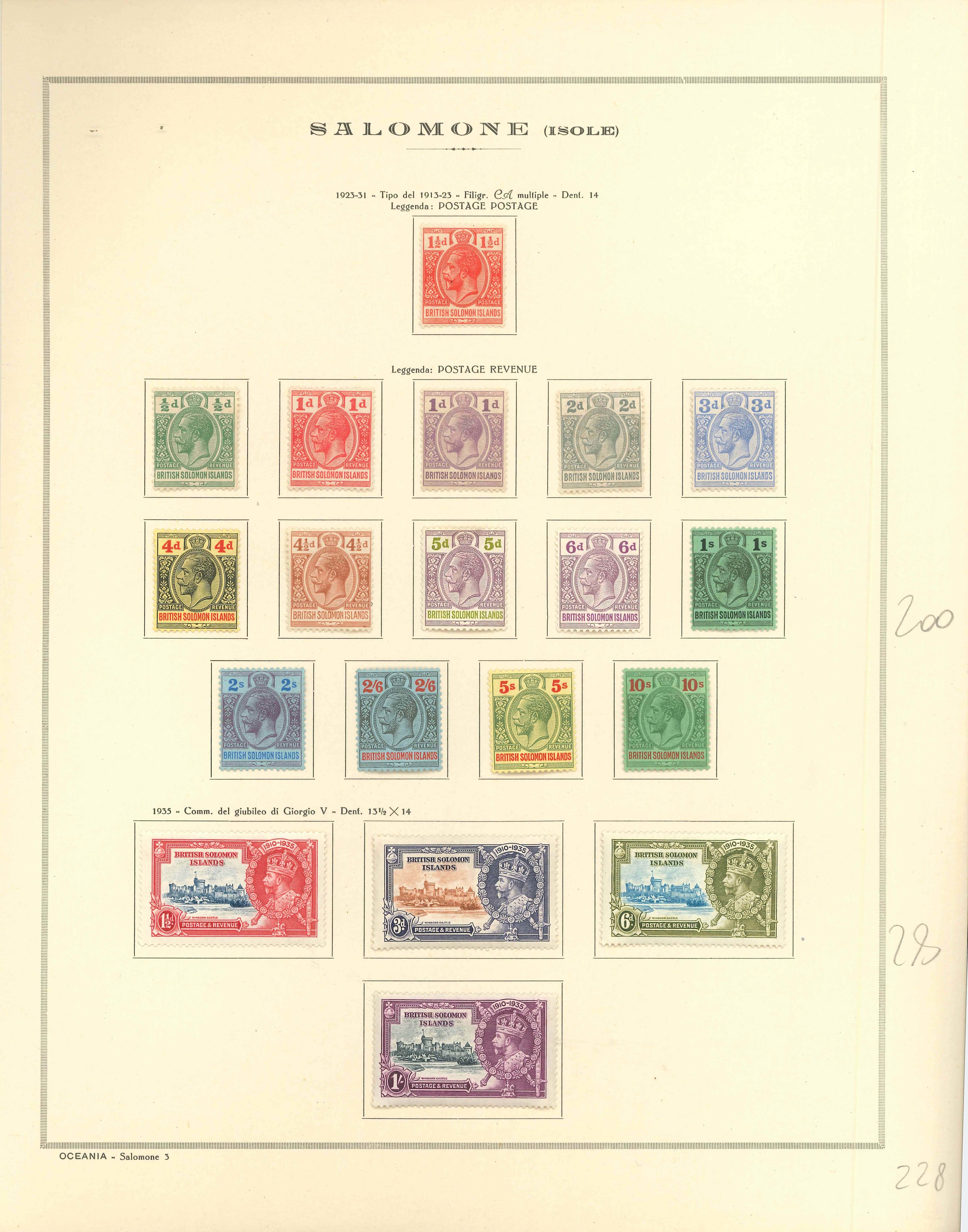 Lot 2222 - british solomon islands Lots & Collections -  Ponte Auction House Stamps Auction 505