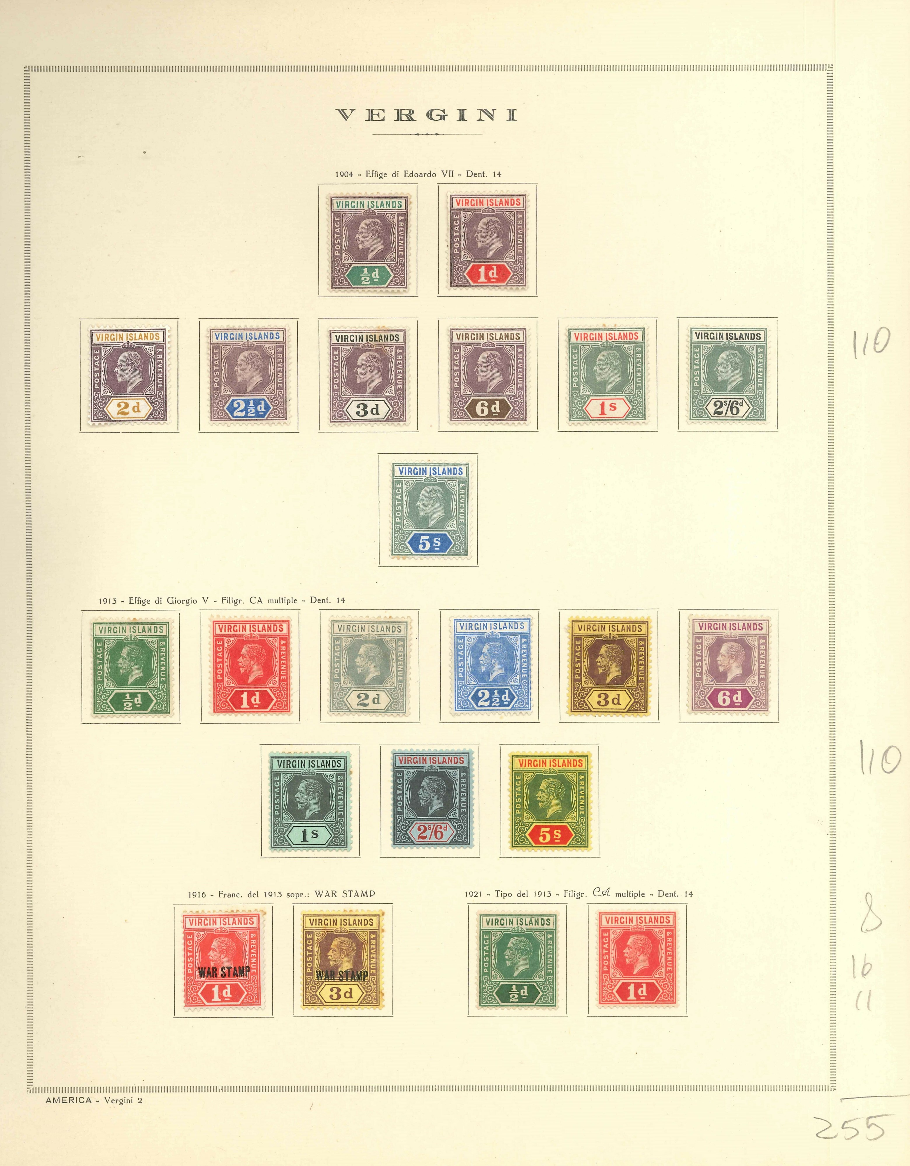 Lot 2223 - BRITISH VIRGIN ISLAND Lots & Collections -  Ponte Auction House Stamps Auction 505
