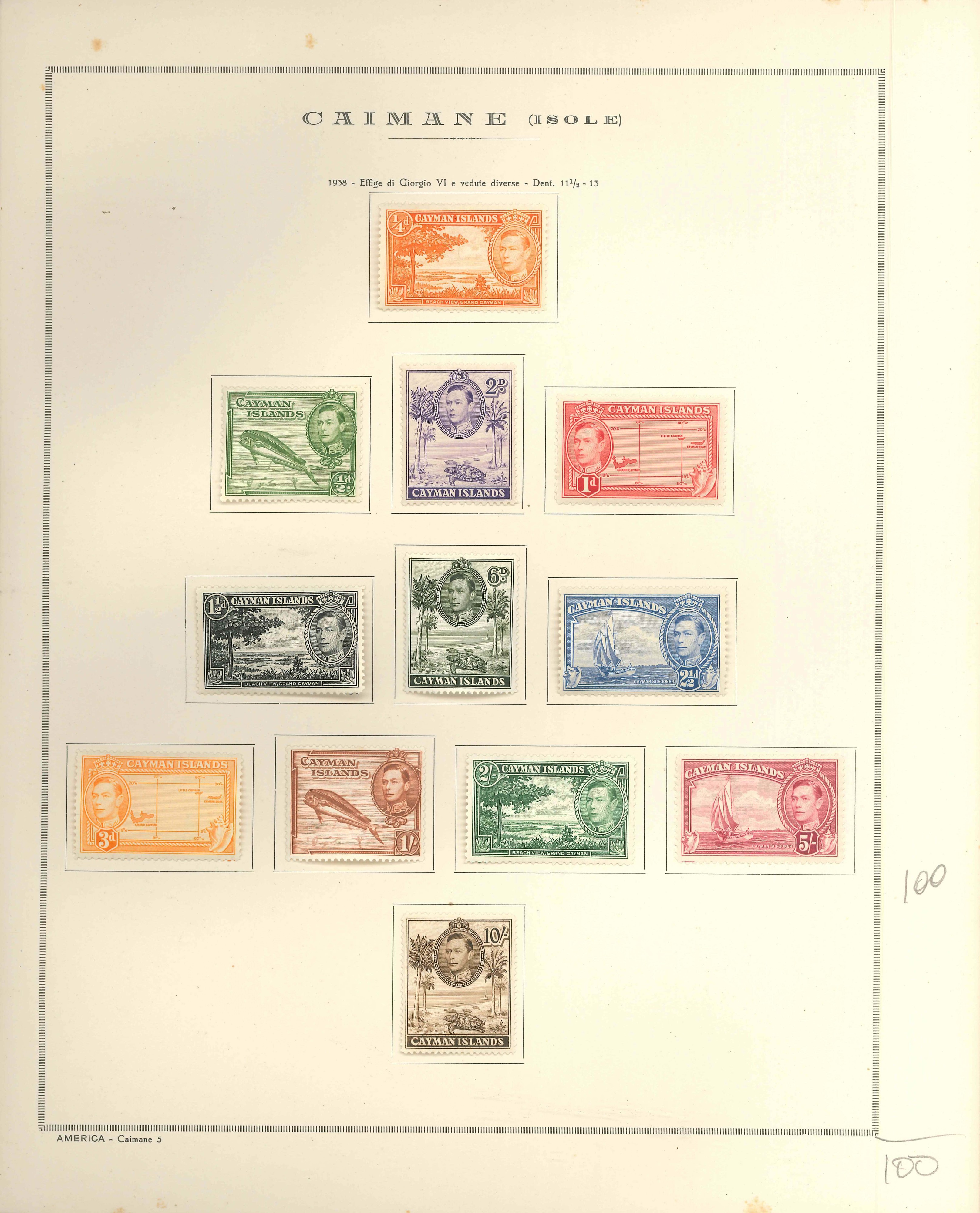 Lot 2229 - cayman islands Lots & Collections -  Ponte Auction House Stamps Auction 505
