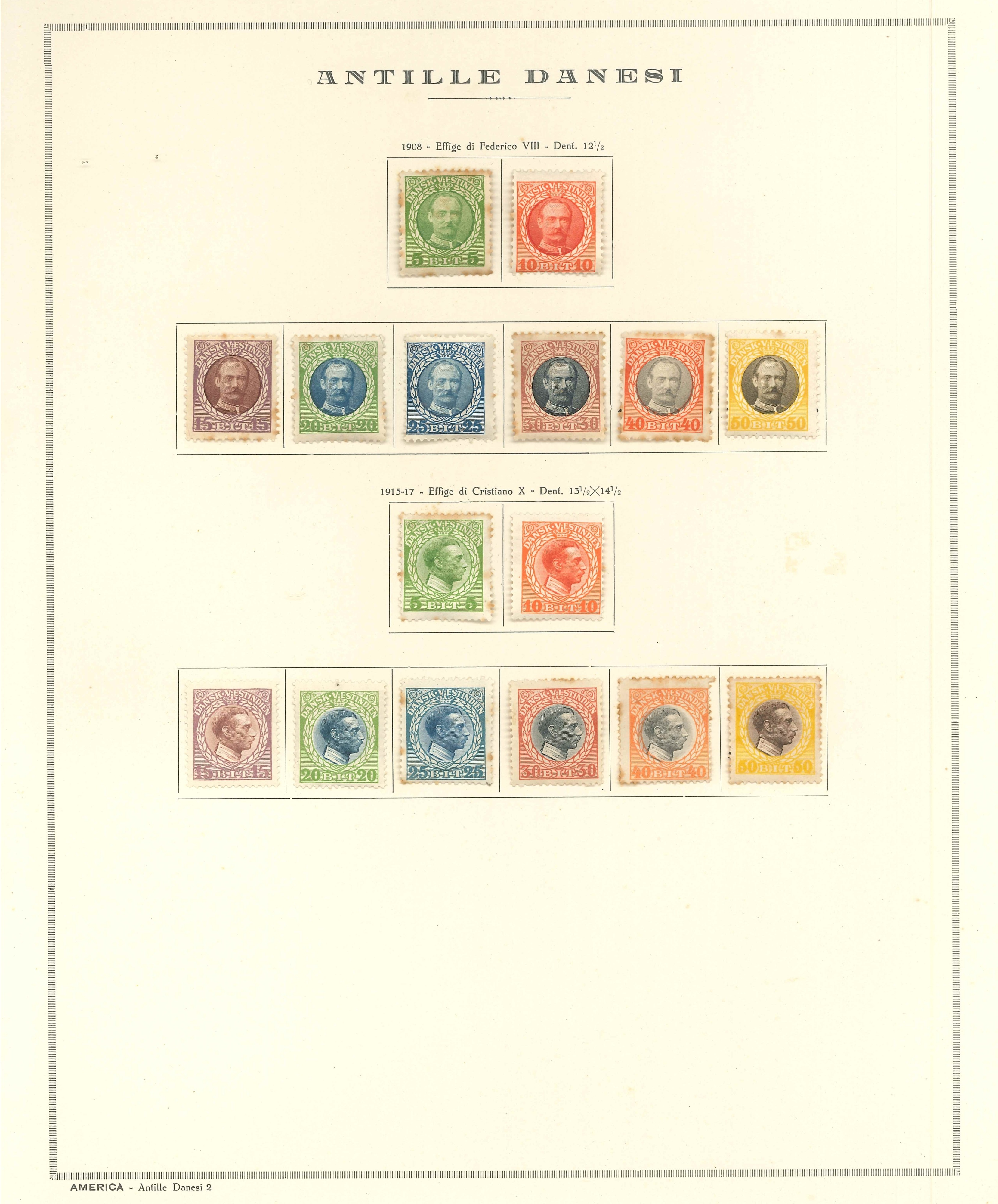 Lot 2239 - danish west indies Lots & Collections -  Ponte Auction House Stamps Auction 505