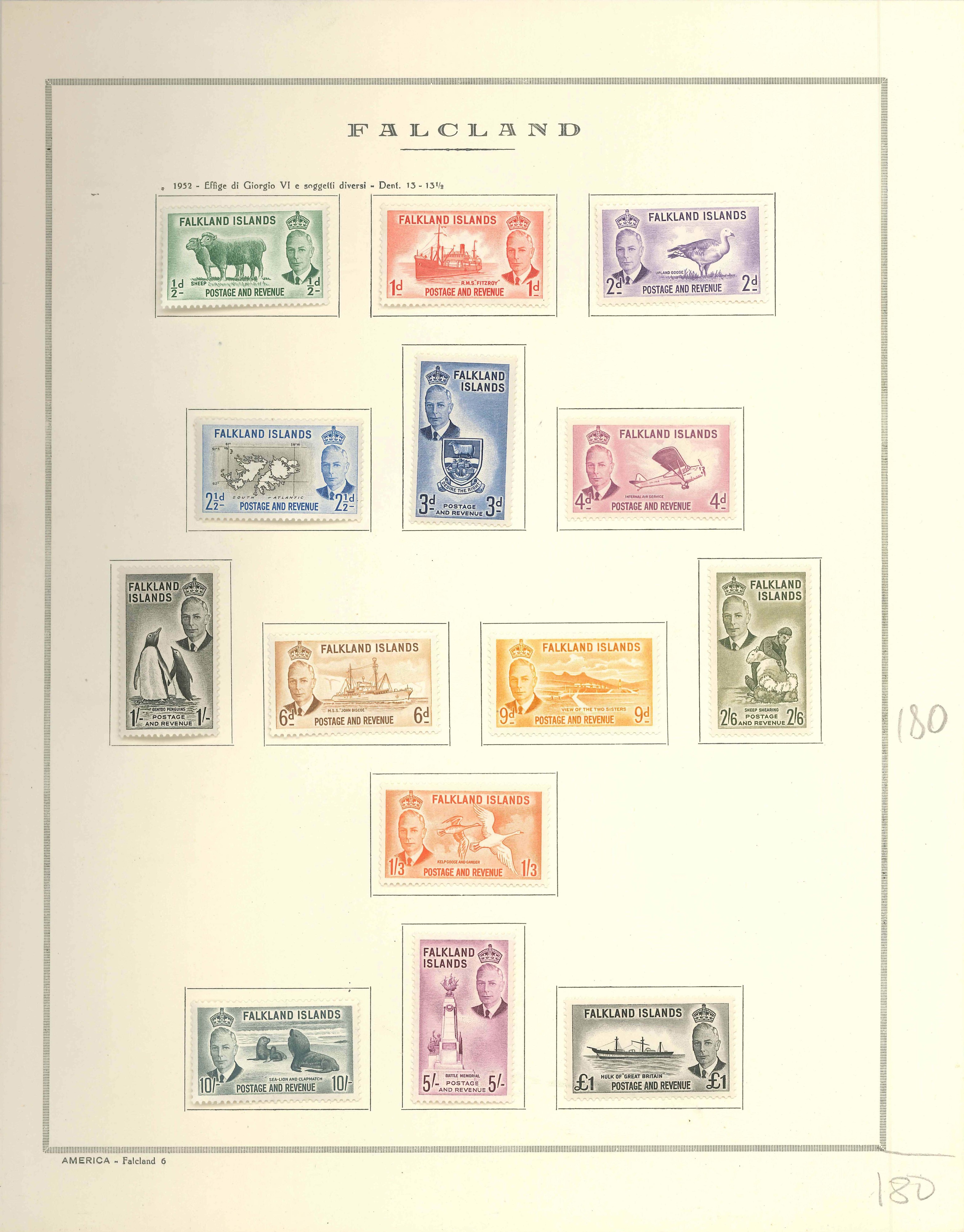 Lot 2250 - falkland islands Lots & Collections -  Ponte Auction House Stamps Auction 505