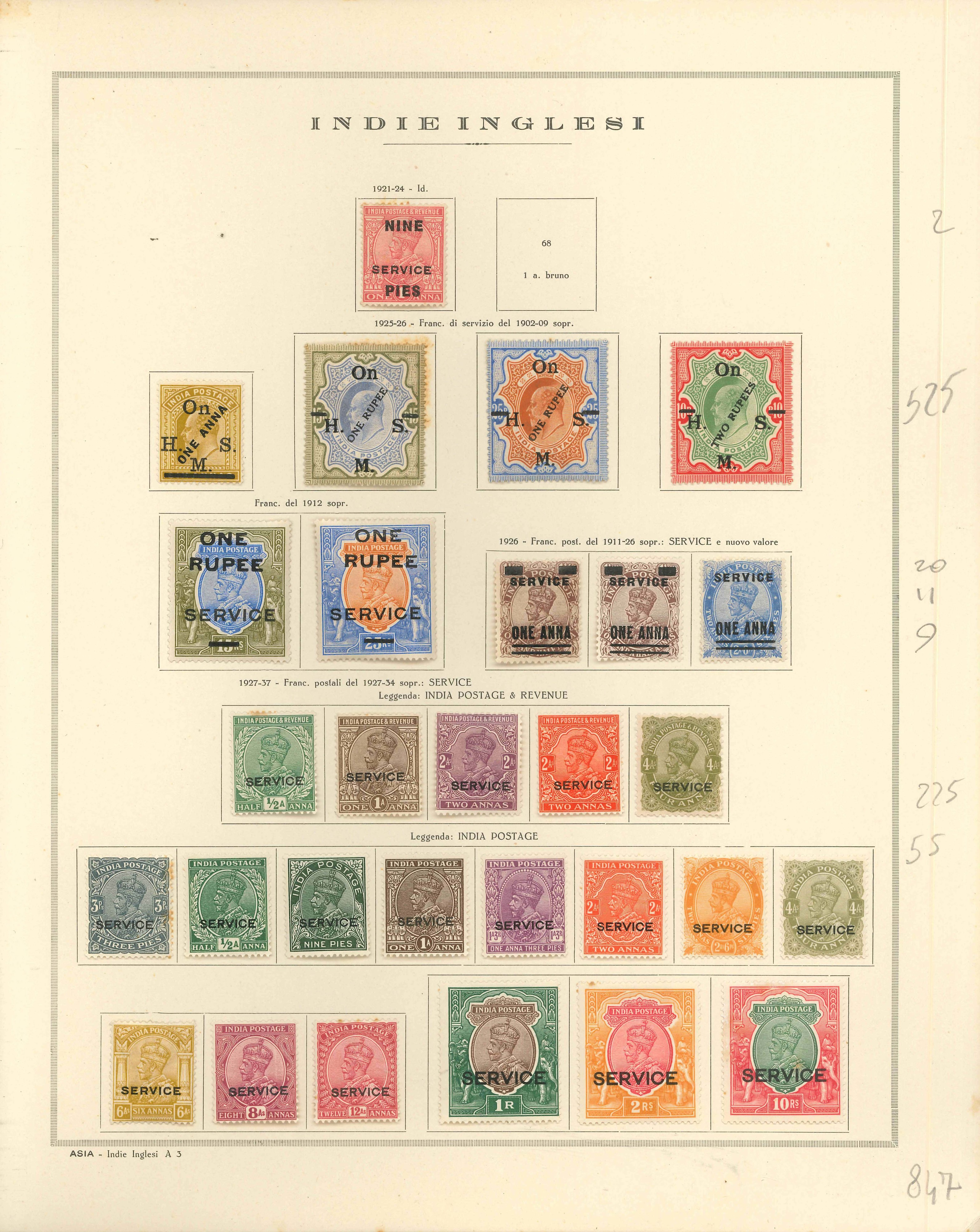 Lot 2280 - india Lots & Collections -  Ponte Auction House Stamps Auction 505
