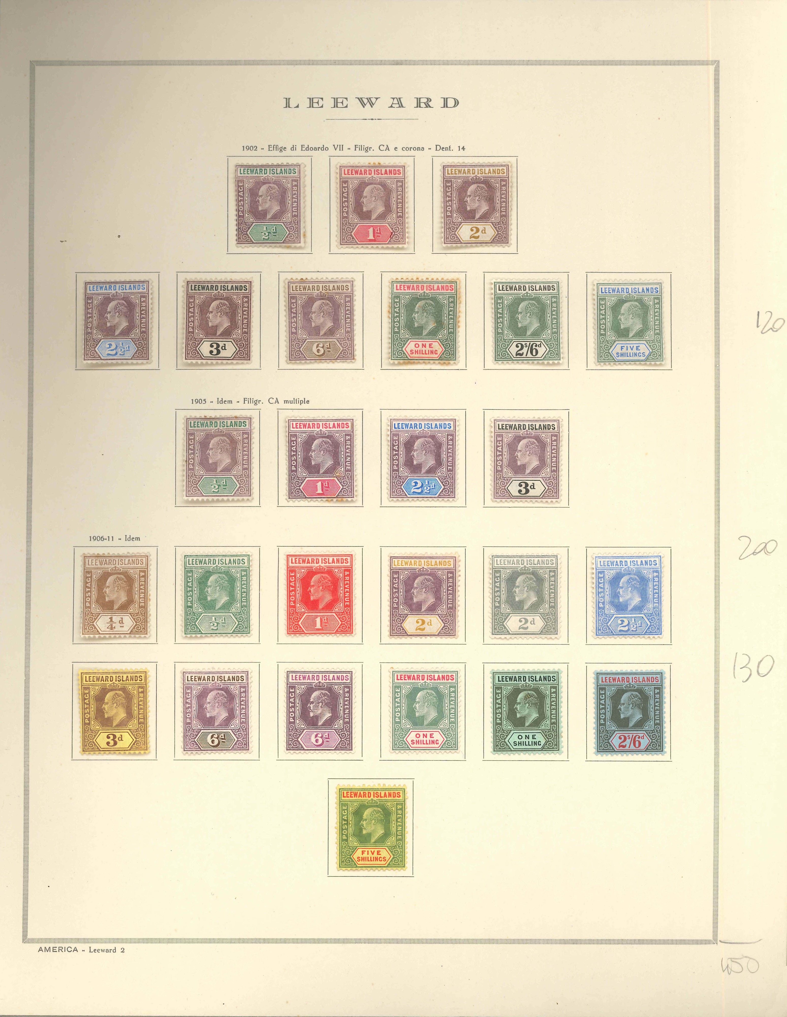 Lot 2293 - leeward islands Lots & Collections -  Ponte Auction House Stamps Auction 505