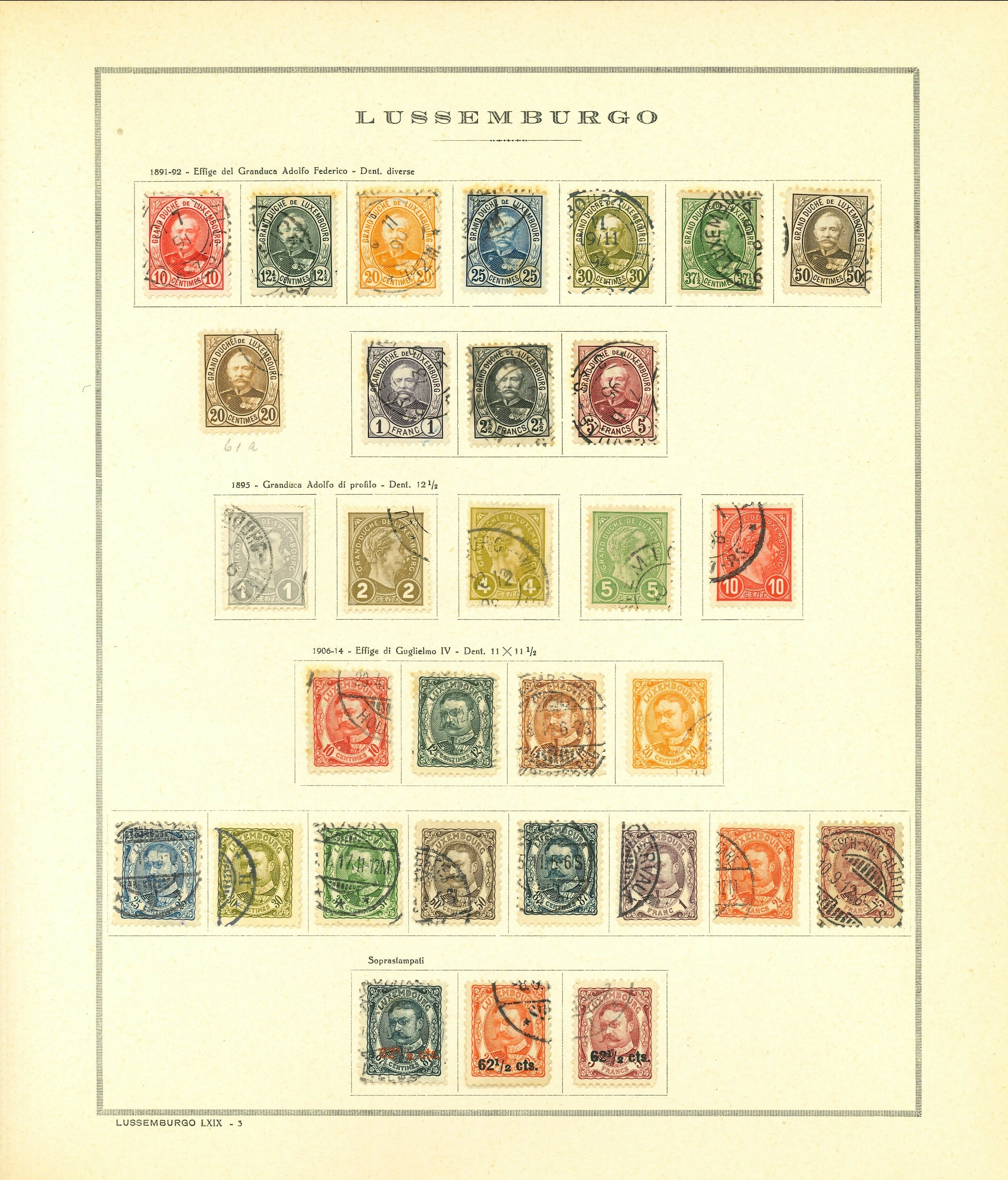 Lot 2296 - Luxembourg Lots & Collections -  Ponte Auction House Stamps Auction 505