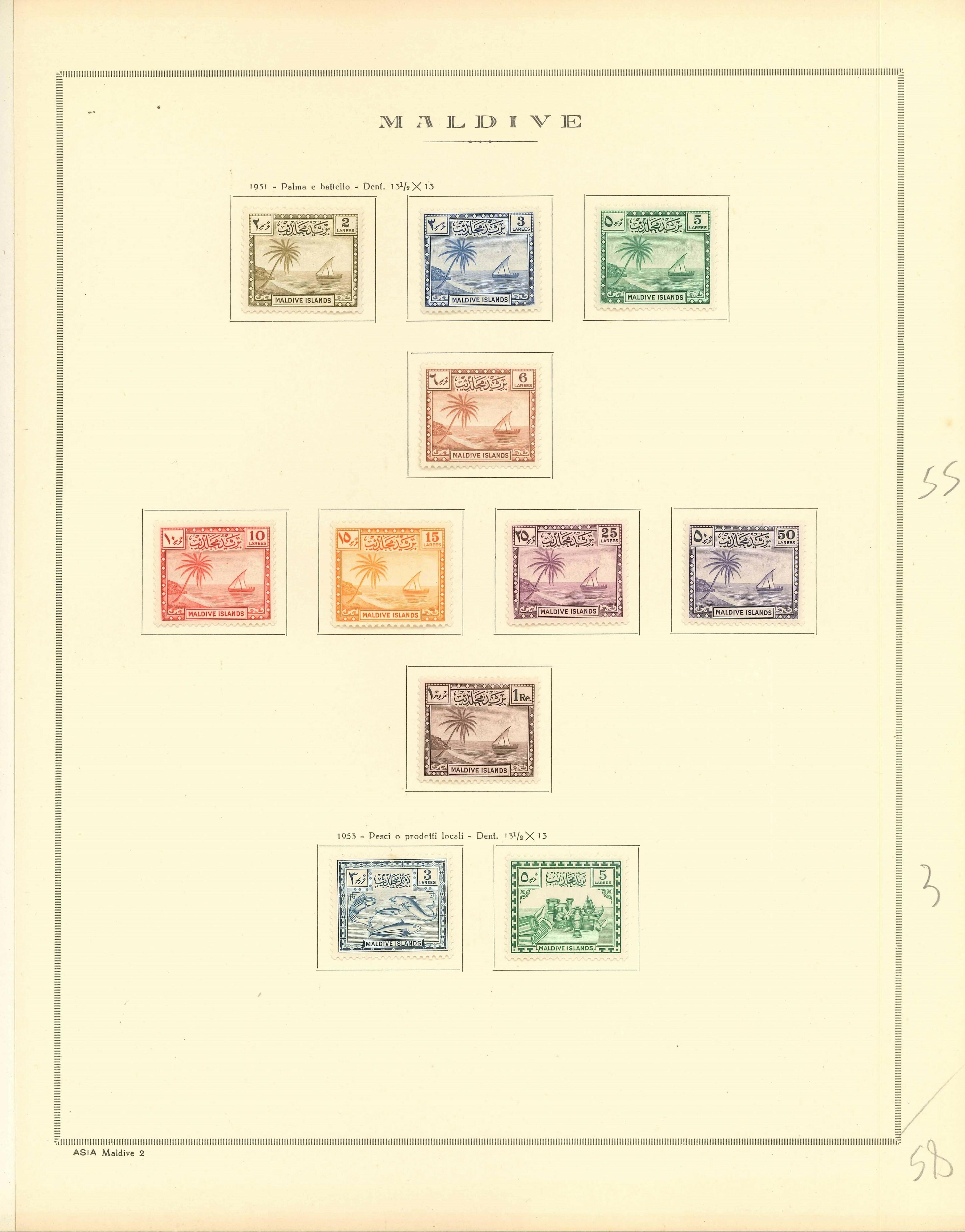 Lot 2299 - maldive islands Lots & Collections -  Ponte Auction House Stamps Auction 505