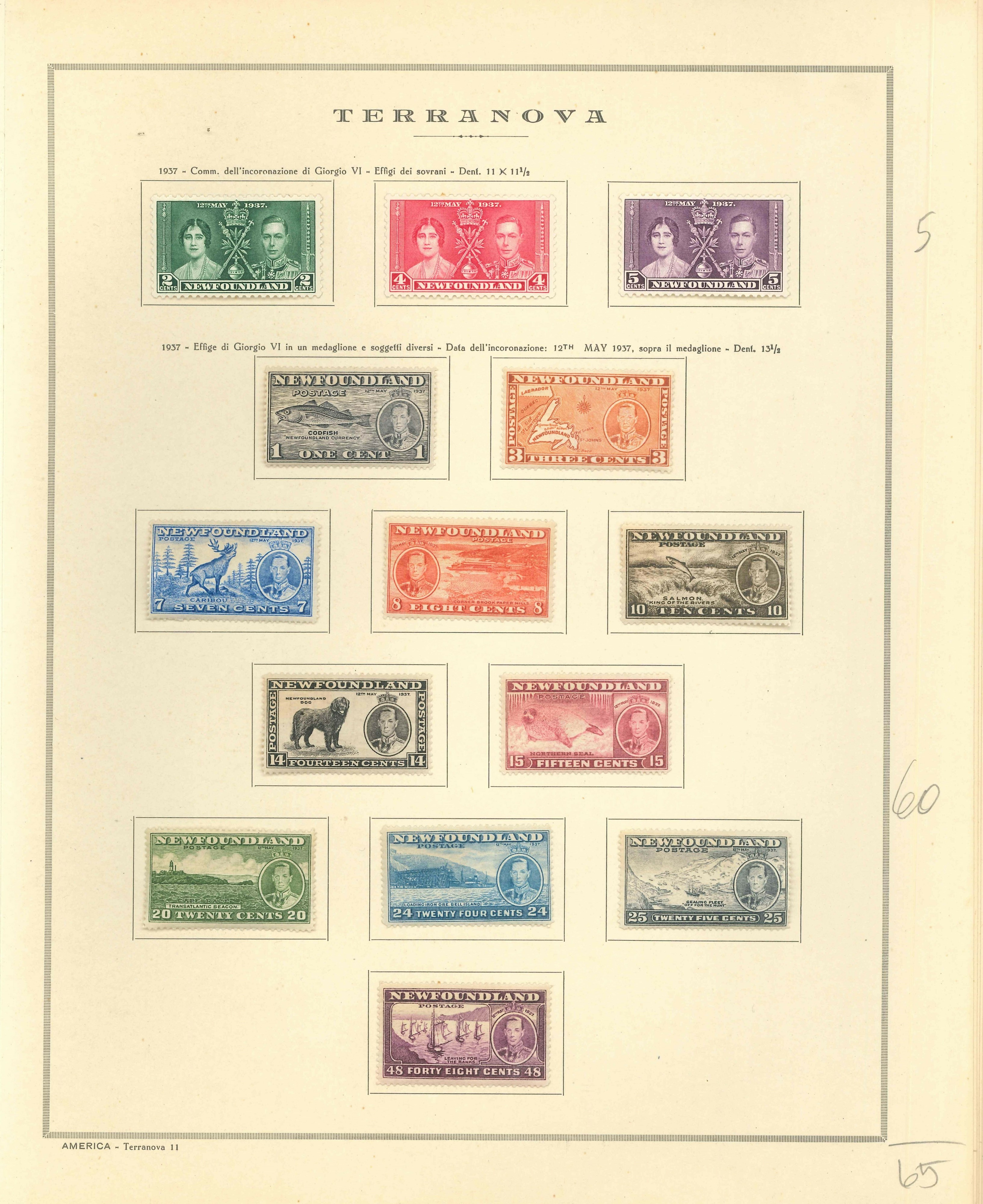 Lot 2314 - NEWFOUNDLAND, NOVA SCOTIA Lots & Collections -  Ponte Auction House Stamps Auction 505