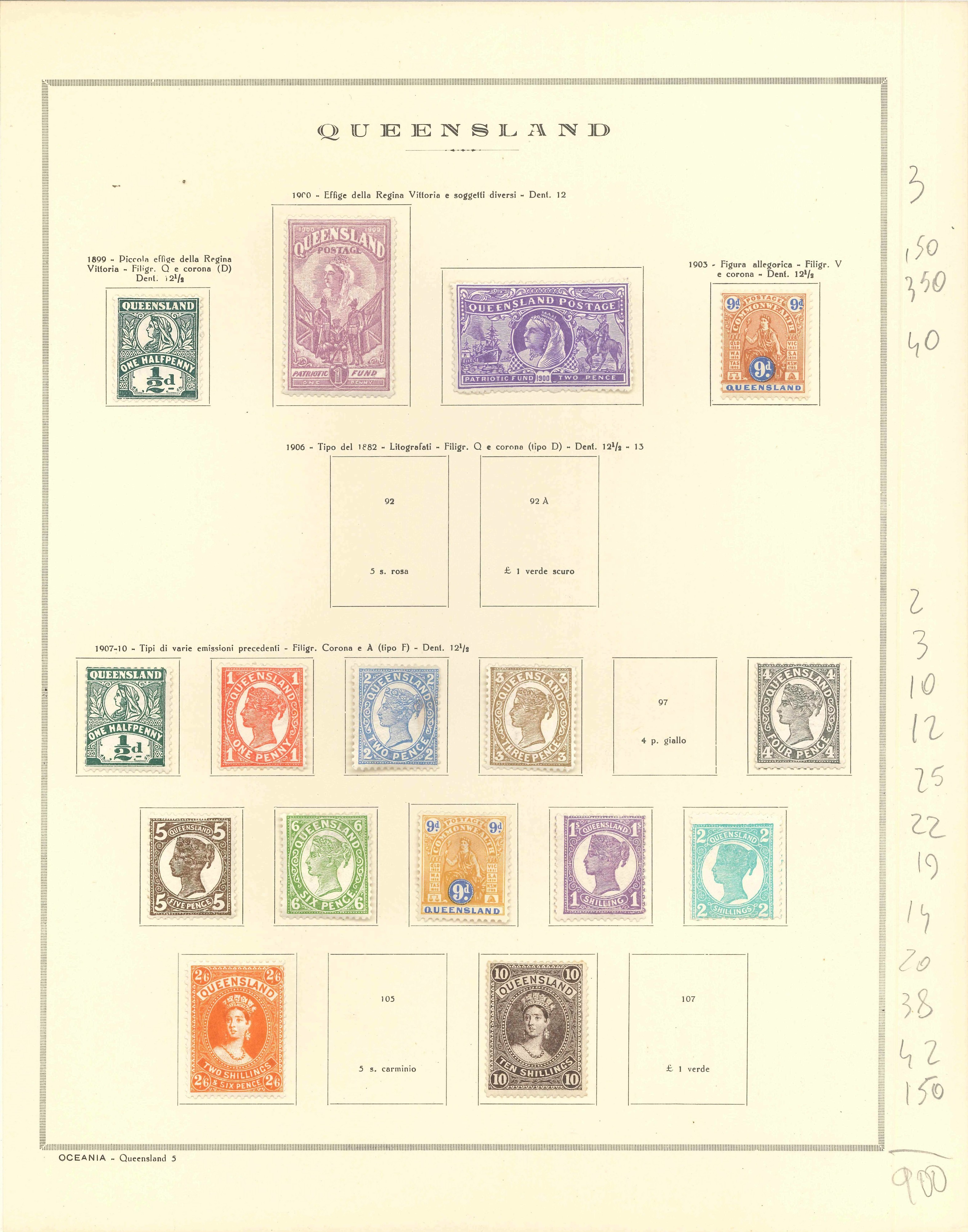 Lot 2333 - queensland Lots & Collections -  Ponte Auction House Stamps Auction 505