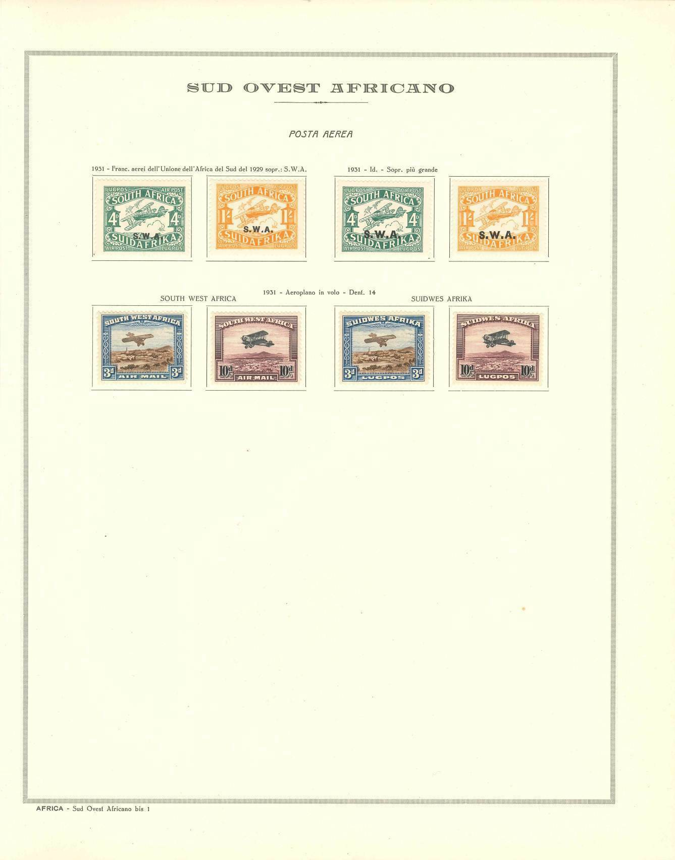 Lot 2344 - south west africa Lots & Collections -  Ponte Auction House Stamps Auction 505