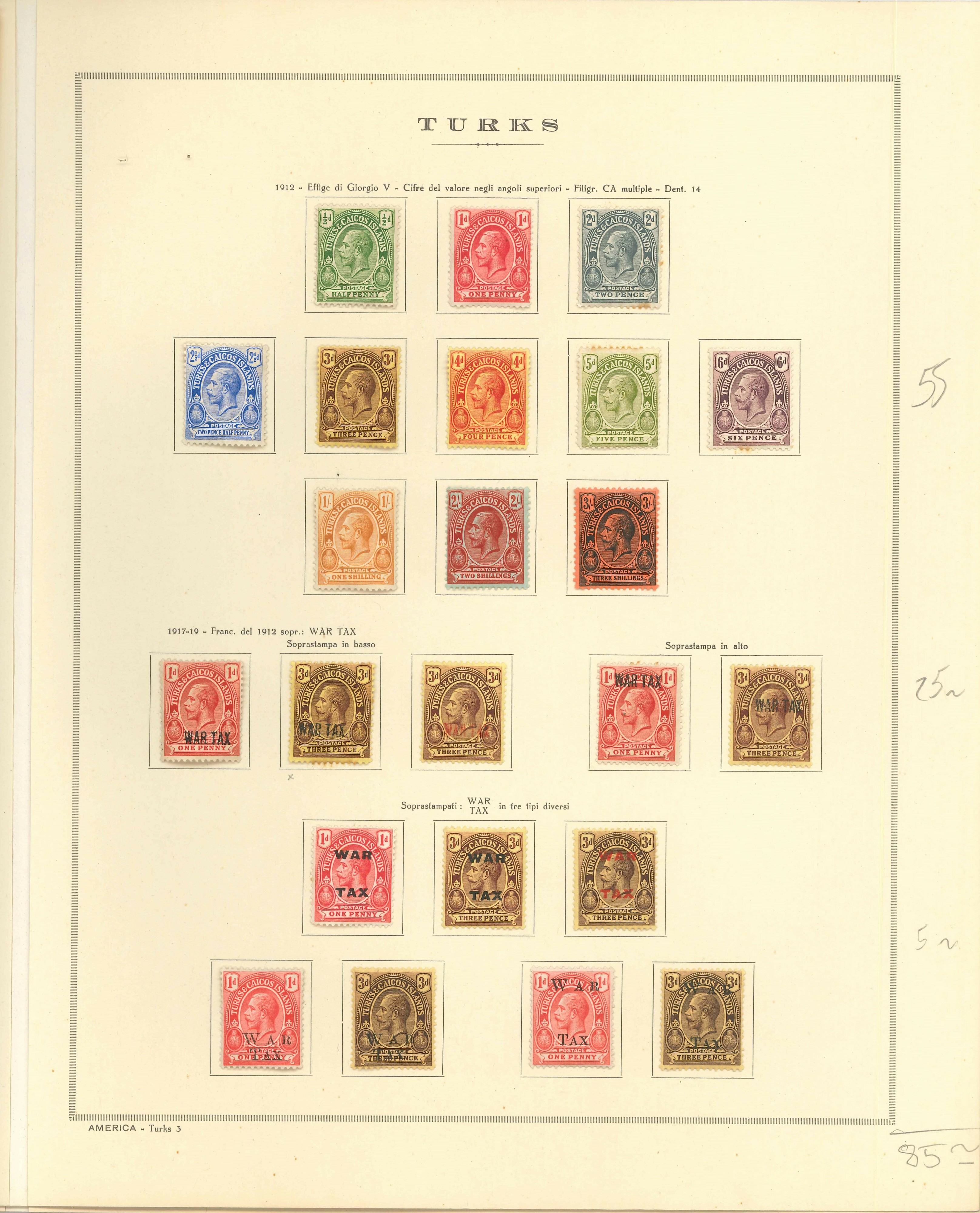 Lot 2368 - TURKS & CAICOS ISLANDS Lots & Collections -  Ponte Auction House Stamps Auction 505