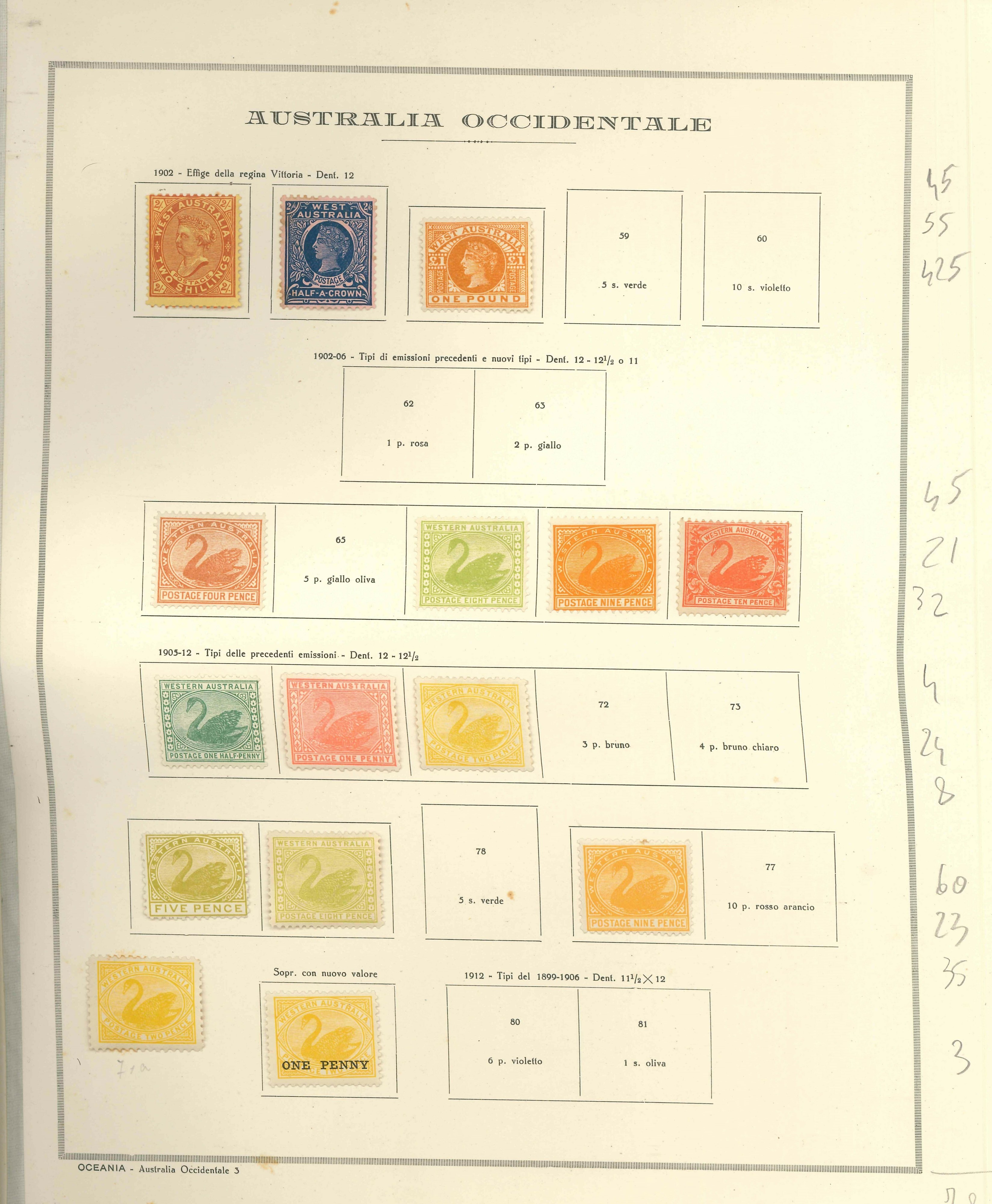 Lot 2375 - western australia Lots & Collections -  Ponte Auction House Stamps Auction 505