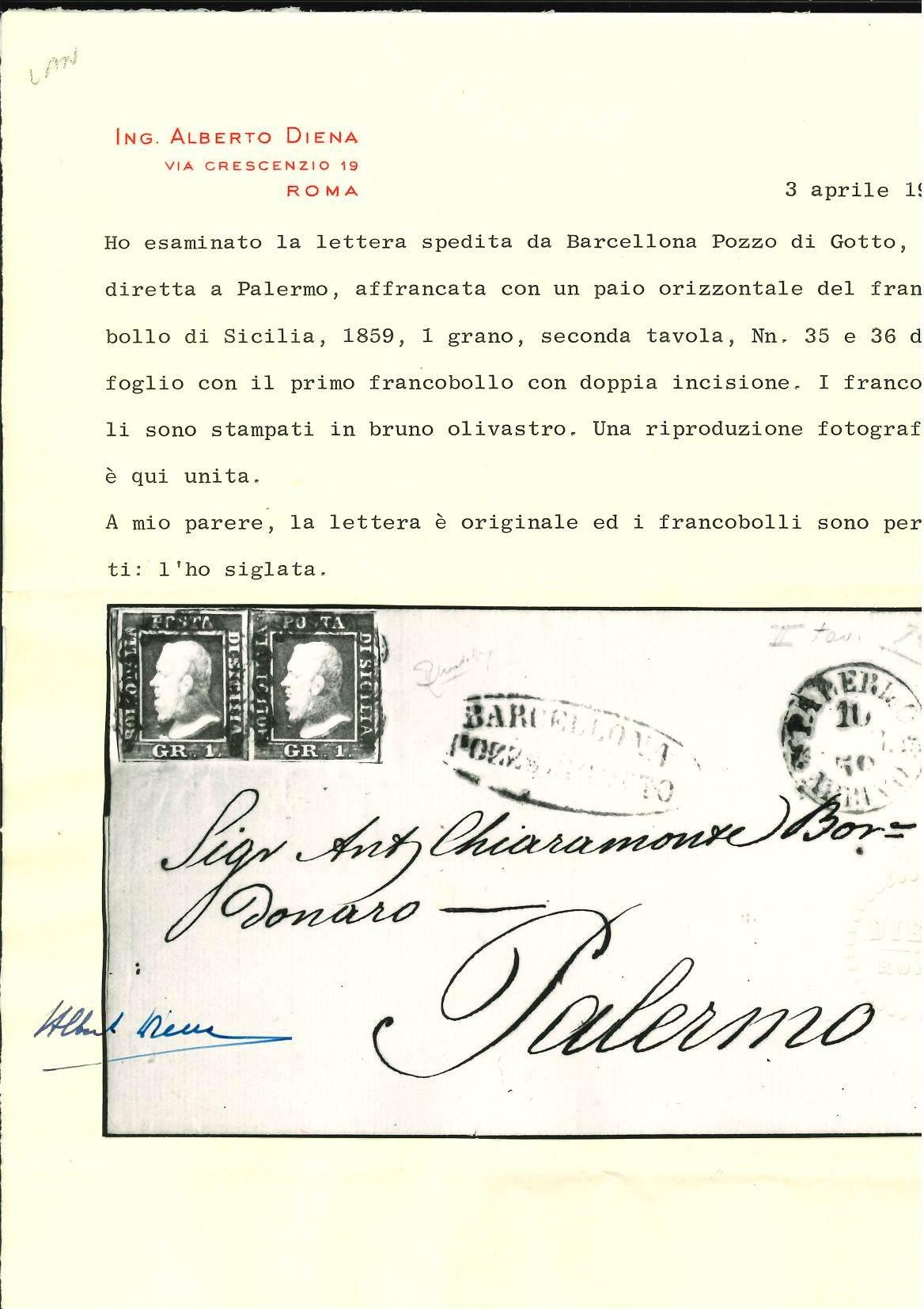 Lot 2404 - sicilia Individual lots -  Ponte Auction House Stamps Auction 505