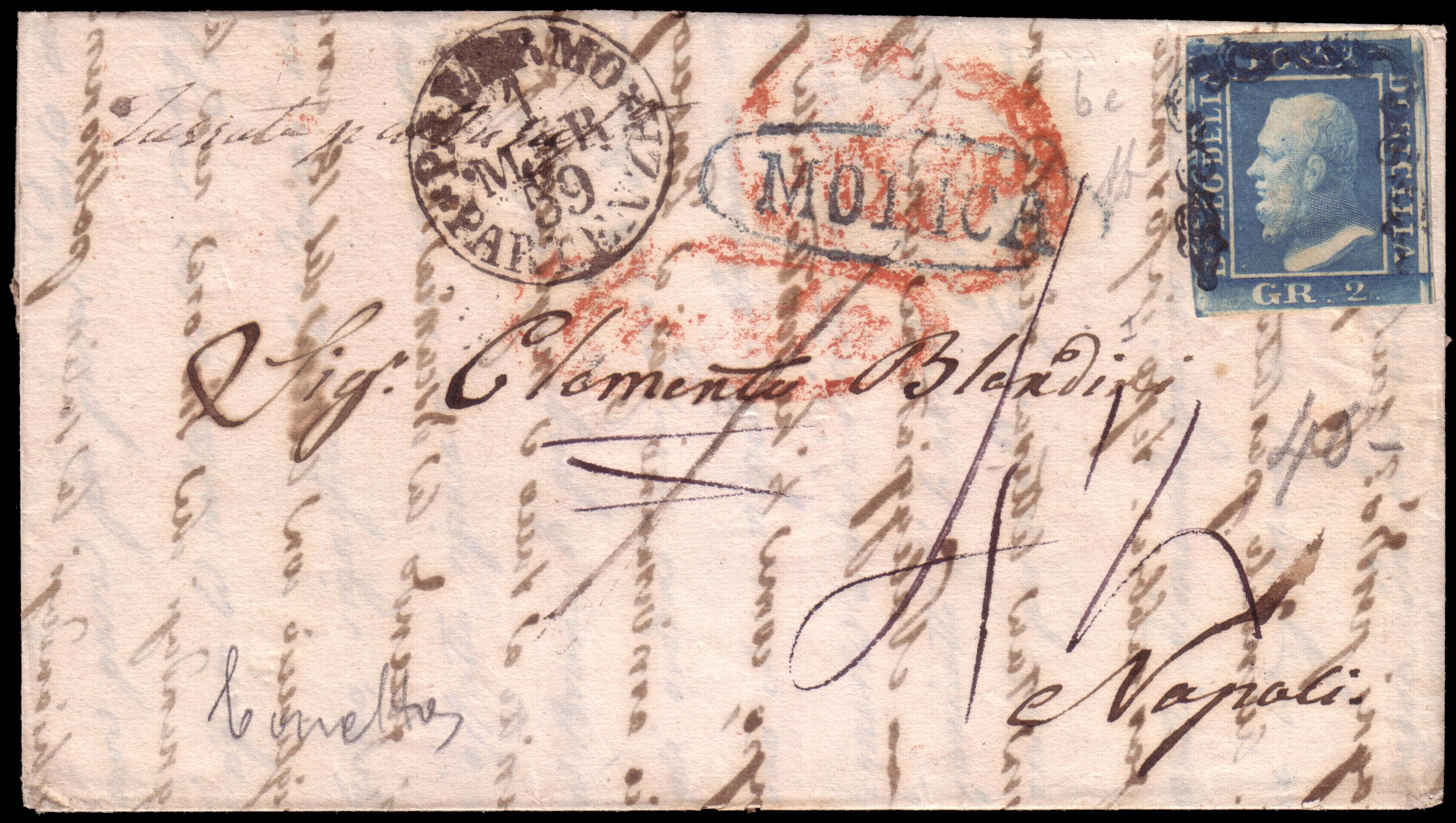 Lot 2405 - sicilia Individual lots -  Ponte Auction House Stamps Auction 505