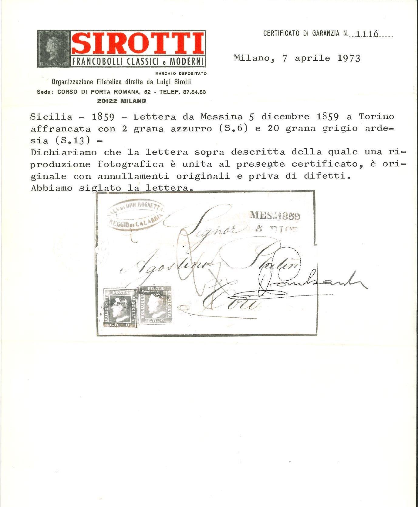 Lot 2409 - sicilia Individual lots -  Ponte Auction House Stamps Auction 505