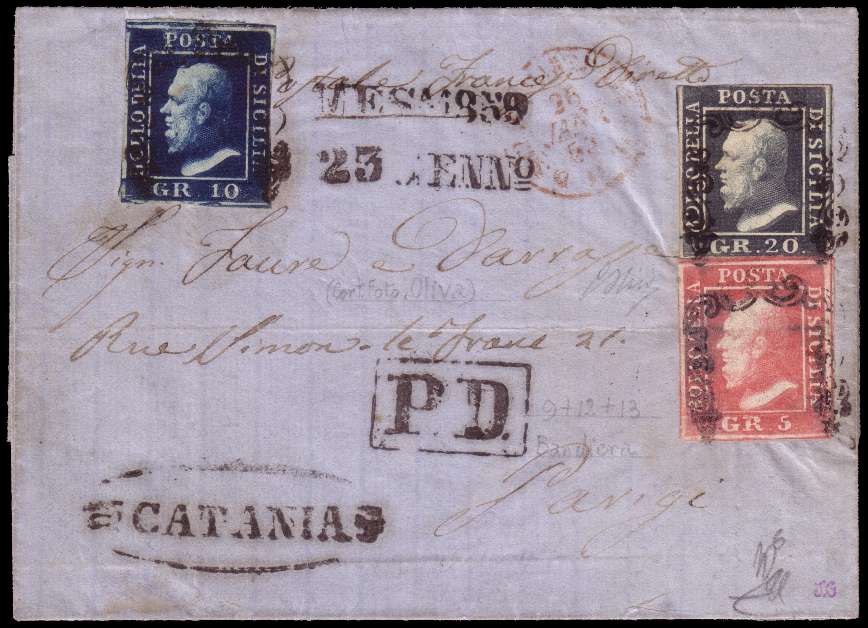 Lot 2410 - sicilia Individual lots -  Ponte Auction House Stamps Auction 505
