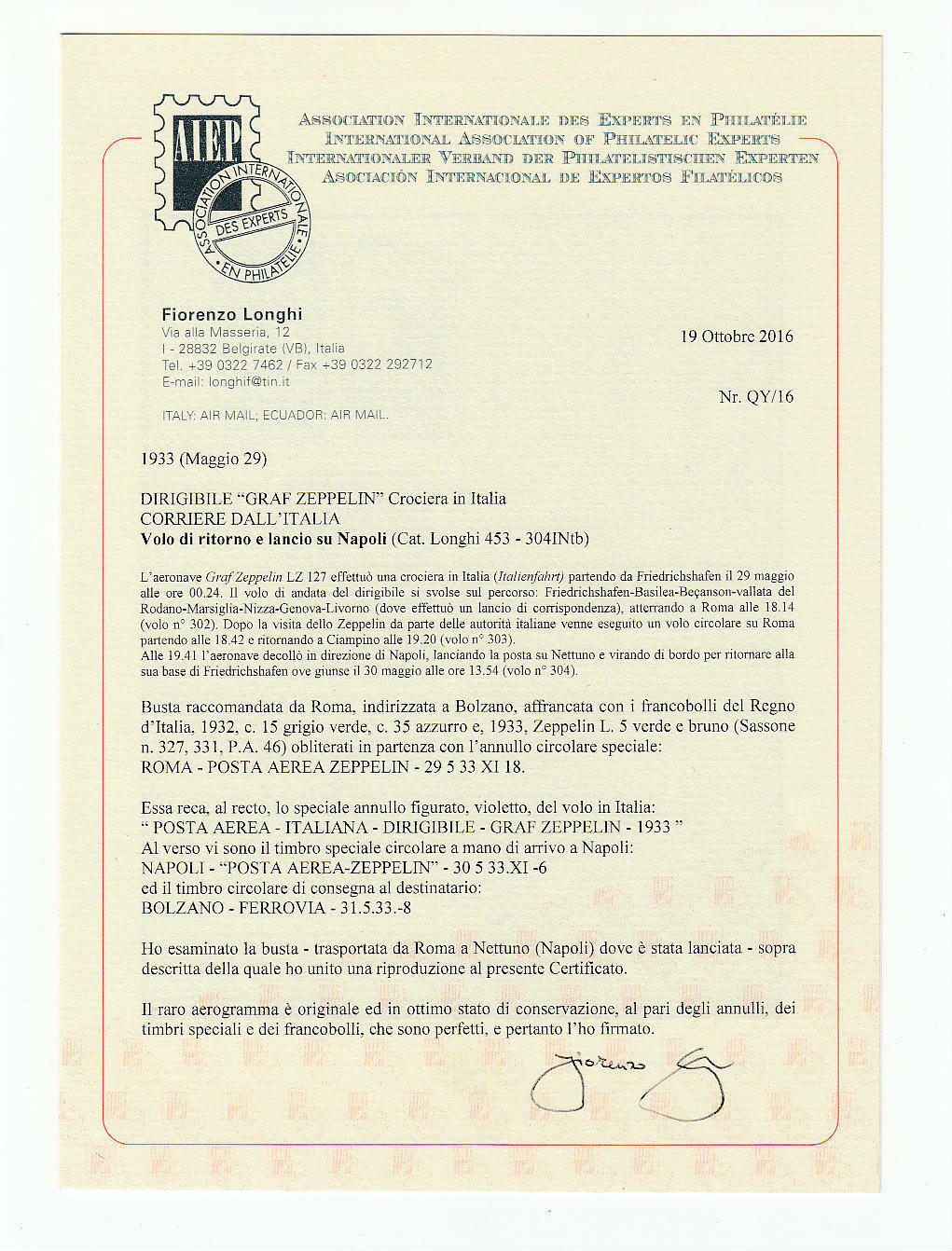 Lot 2427 - REGNO D'ITALIA Individual lots -  Ponte Auction House Stamps Auction 505