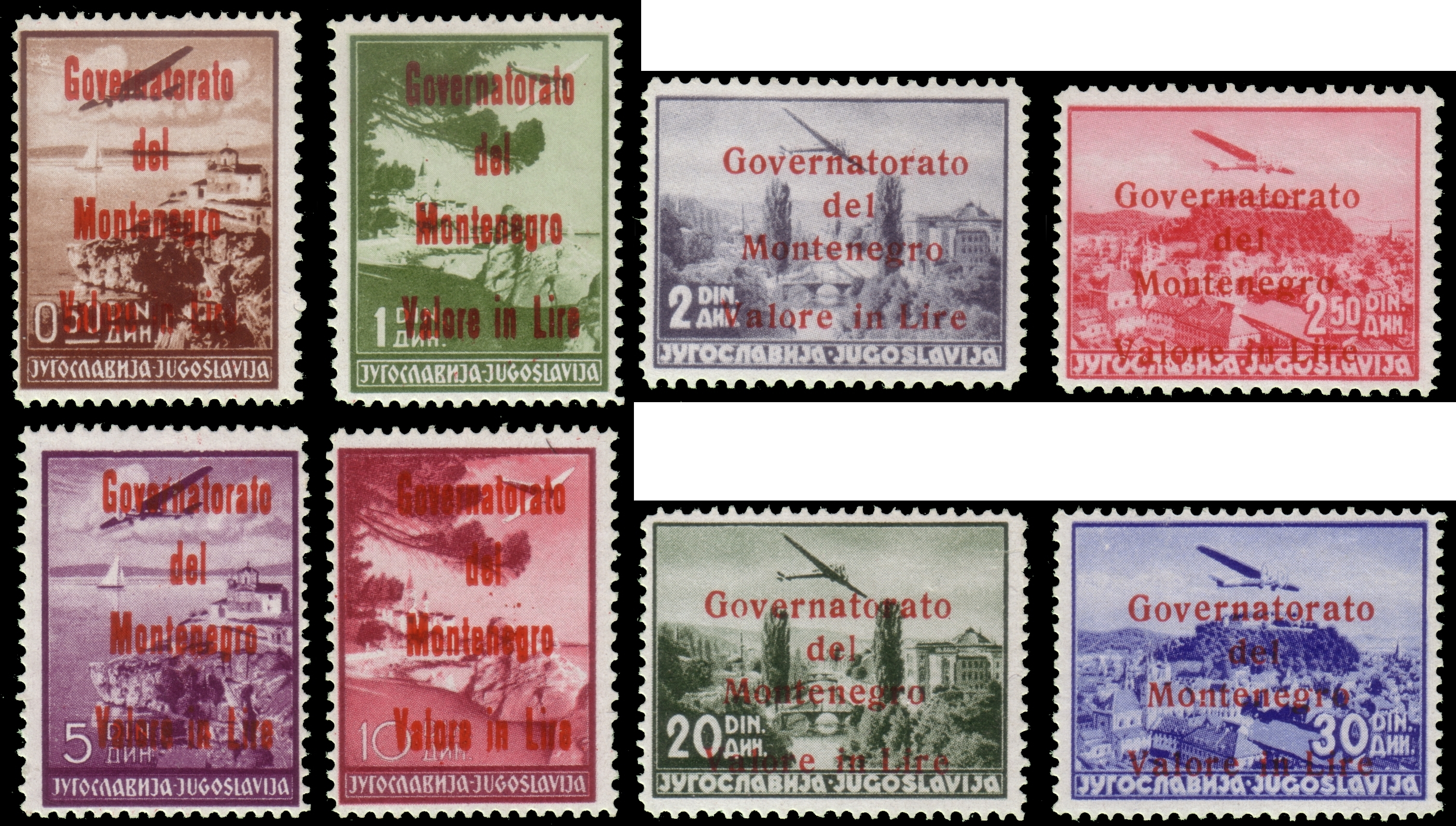 Lot 2445 - monténégro Individual lots -  Ponte Auction House Stamps Auction 505