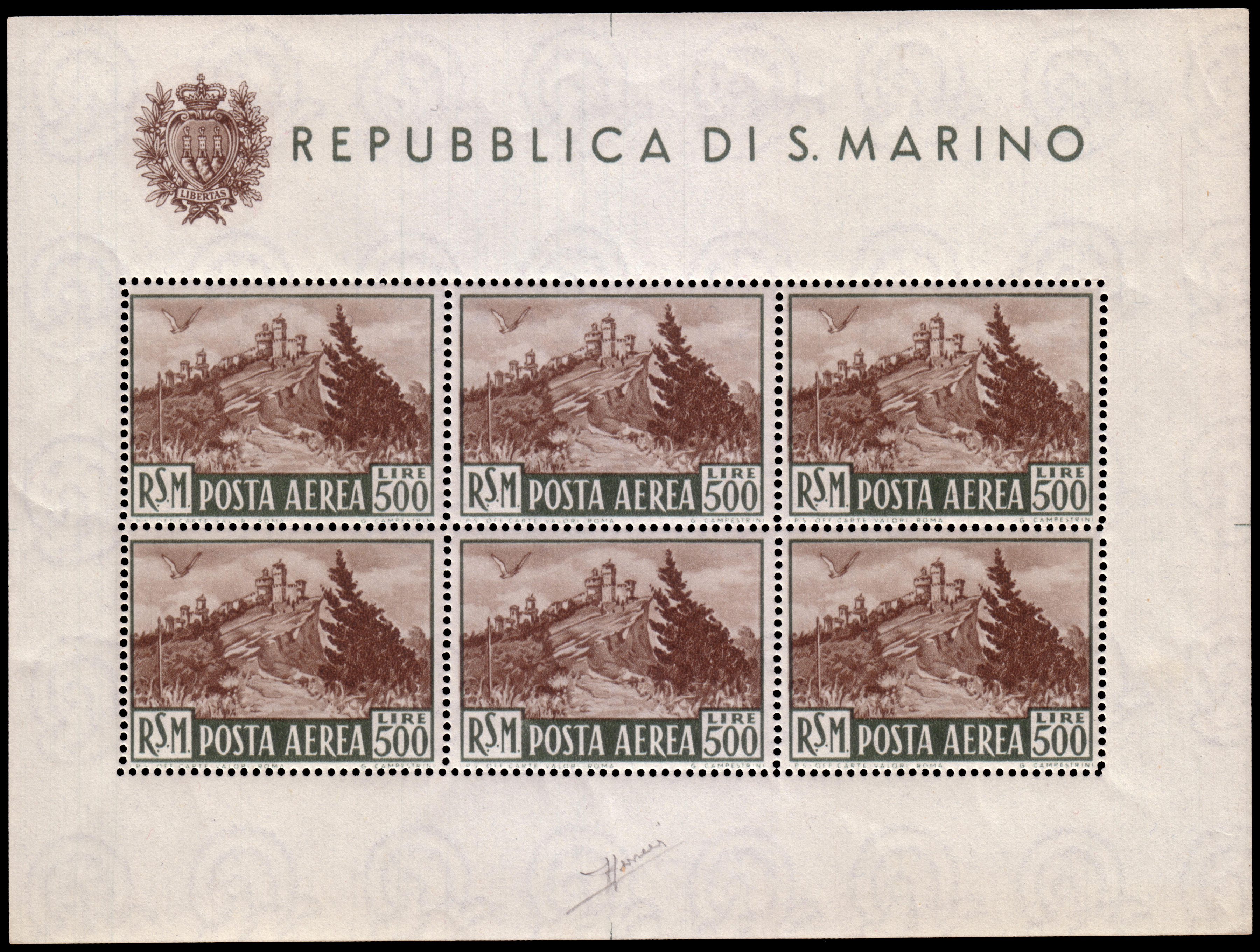 Lot 2460 - San Marino Individual lots -  Ponte Auction House Stamps Auction 505