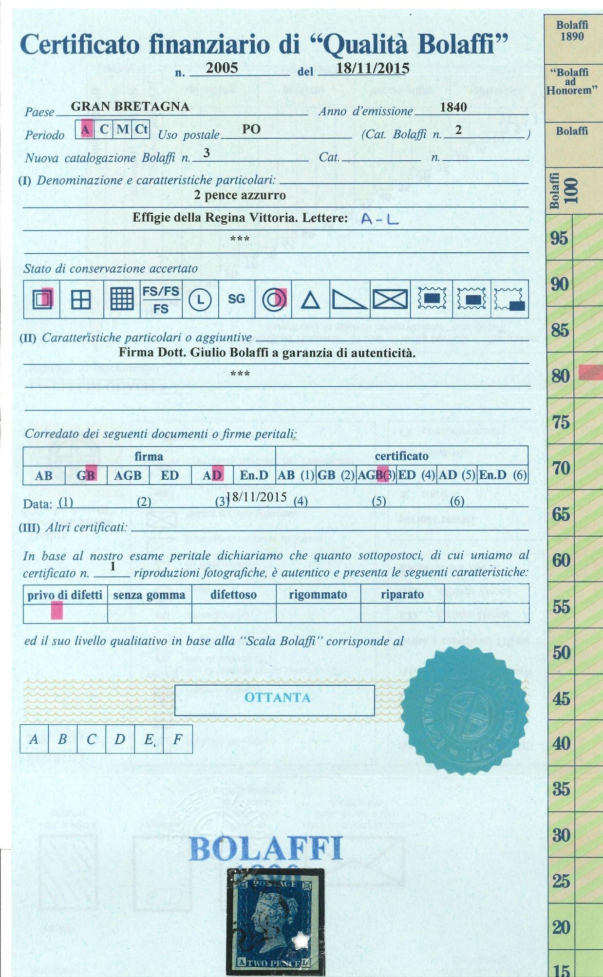 Lot 2463 - gran bretagna Individual lots -  Ponte Auction House Stamps Auction 505