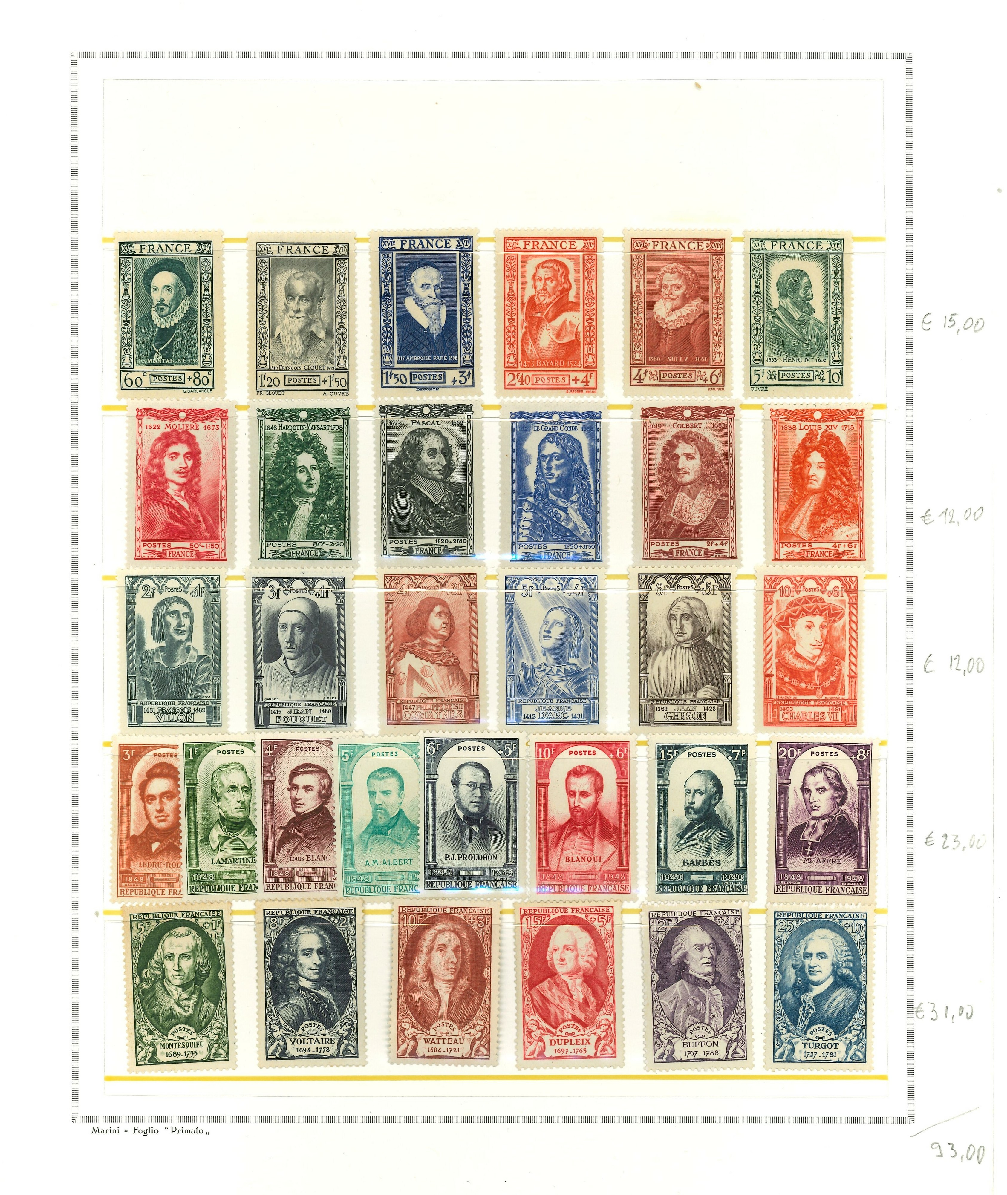 Lot 2533 - FRANCIA, PAESI EUROPEI Lots & Collections -  Ponte Auction House Stamps Auction 505