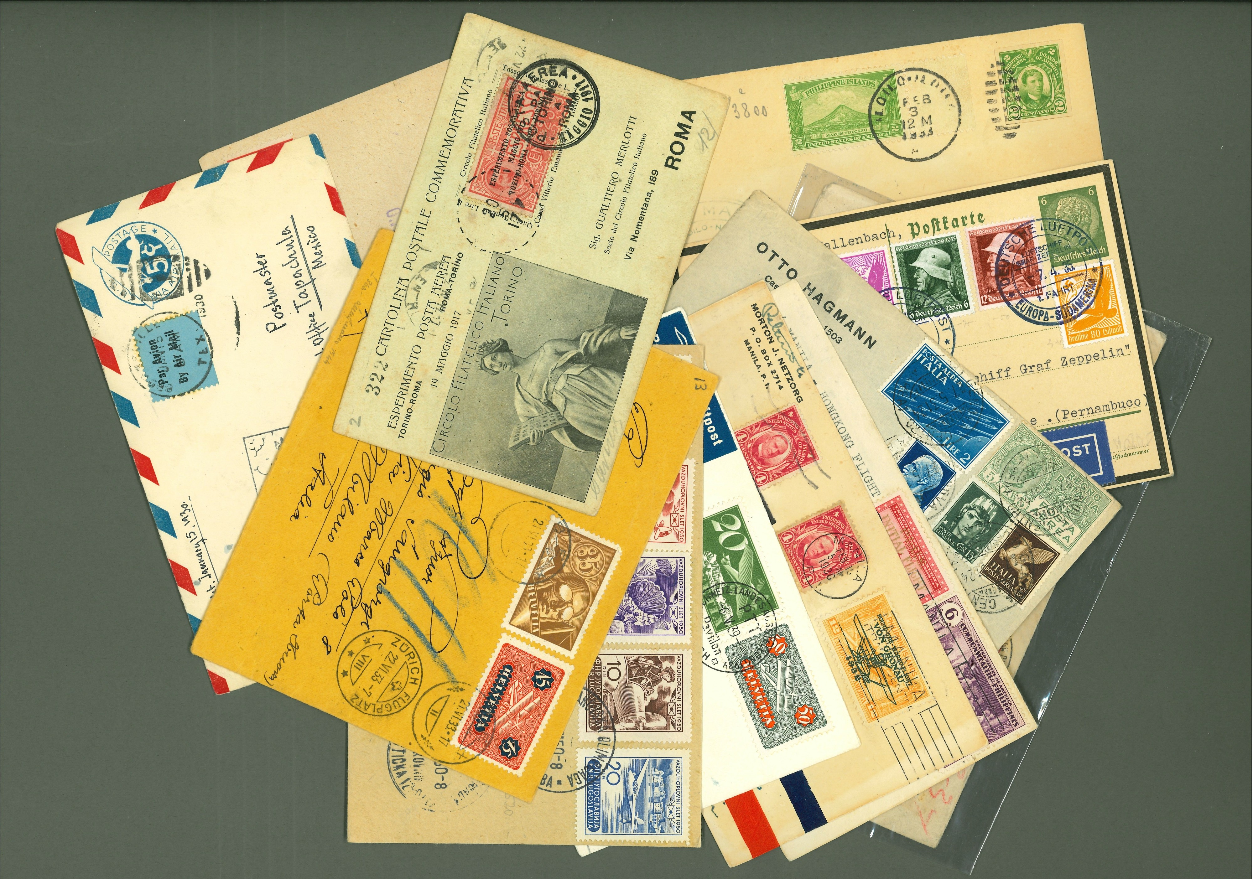 Lot 2573 - posta aerea Lots & Collections -  Ponte Auction House Stamps Auction 505