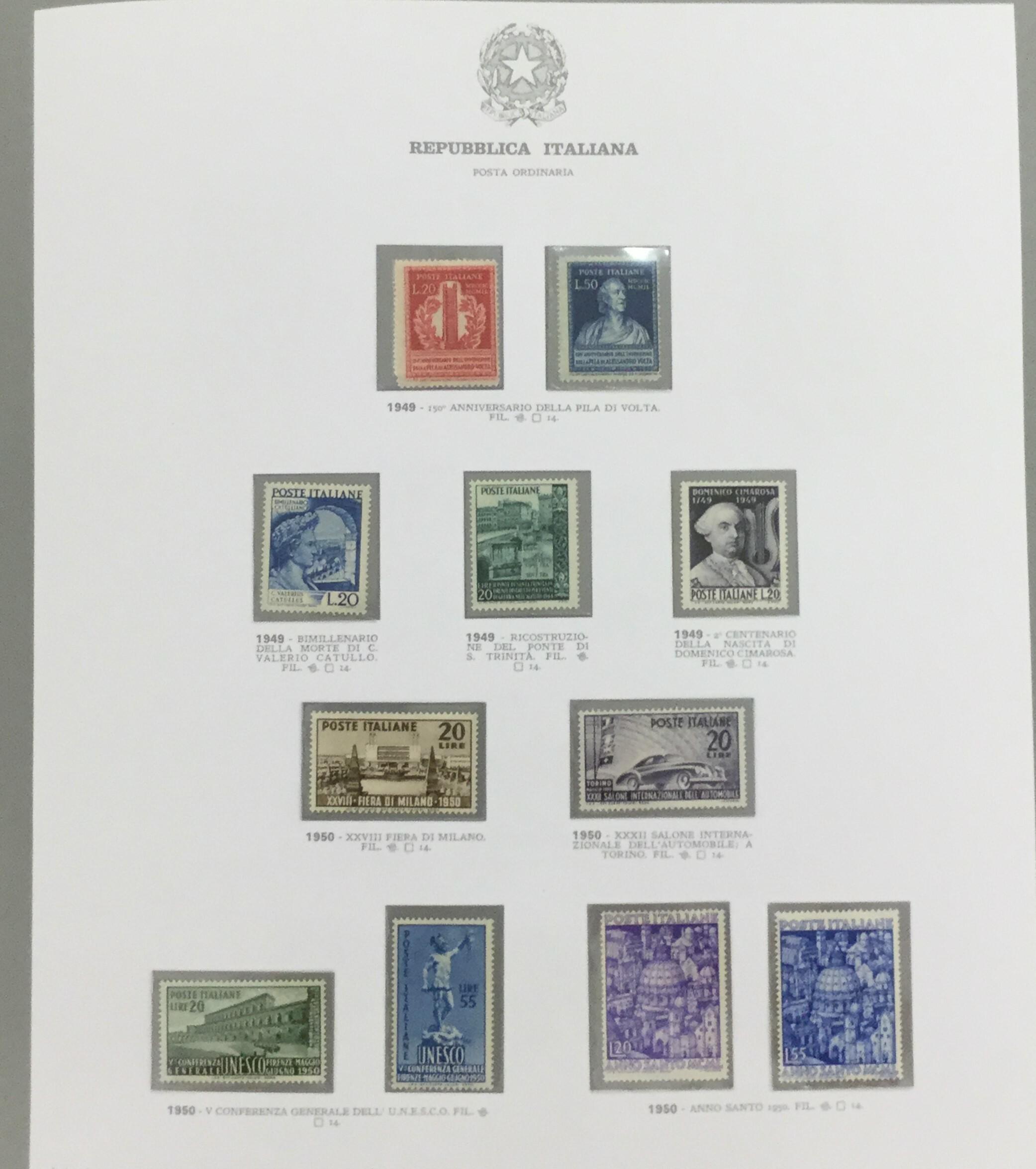Lot 2596 - repubblica Lots & Collections -  Ponte Auction House Stamps Auction 505