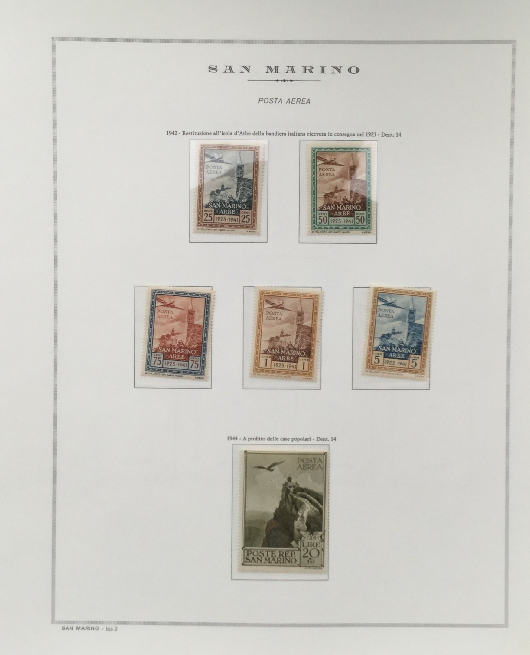 Lot 2607 - San Marino Lots & Collections -  Ponte Auction House Stamps Auction 505